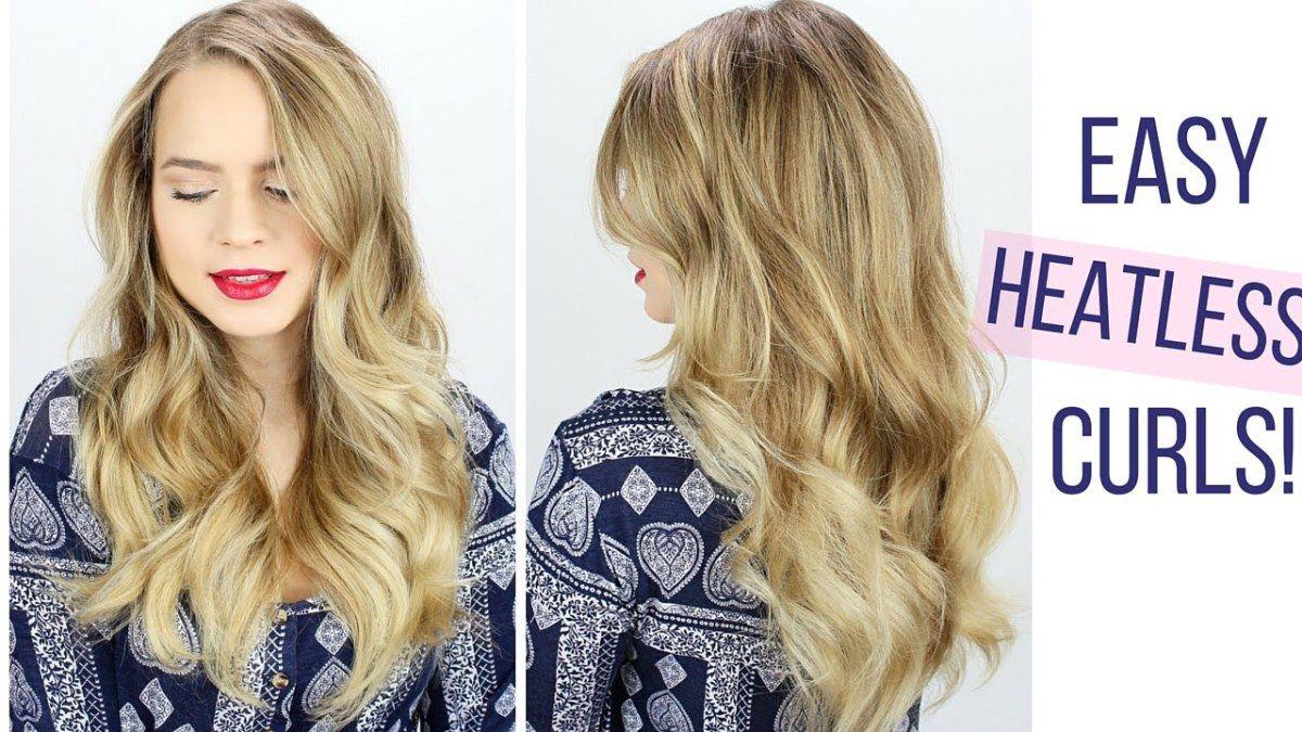 Easy heatless curls hair tutorial hair pinterest curl hair