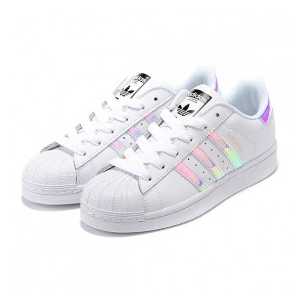 Adidas Superstar Casual Shoes Laser Symphony white ($59) via ...
