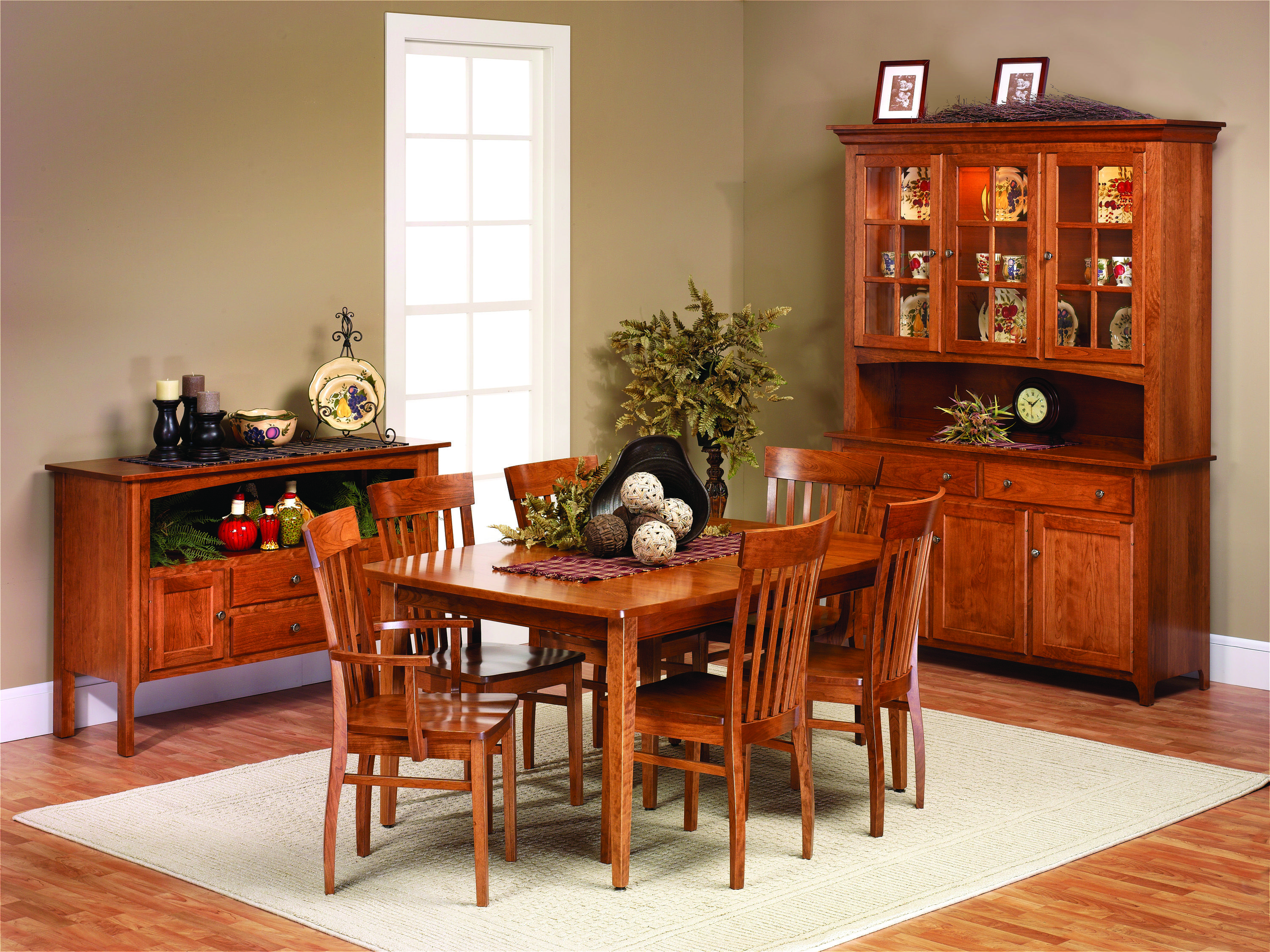 Carlisle Dining Collection Solid Hardwood Shown In Cherry Available In Variety Of Woods Stains Kitchen Dining Furniture Furniture Home Furniture