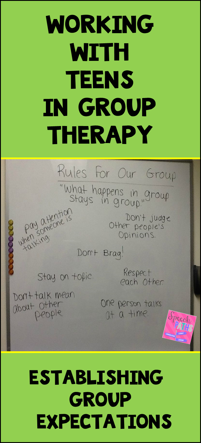 SLPs & counselors: help adolescents and teens understand group expectations with this simple activity: read about it here and start the year right!