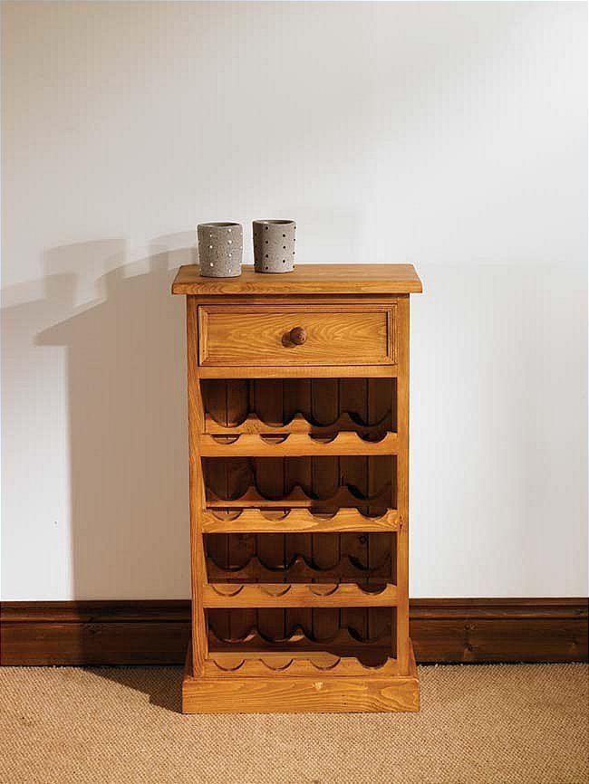 Mottisfont Waxed Small Floor Standing Wine Rack Waxed Pine Small ...