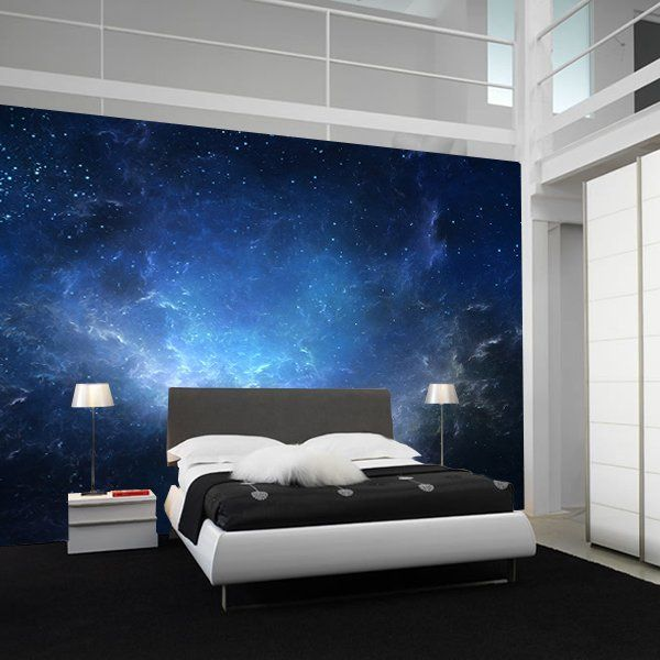 Night sky nebula wall mural