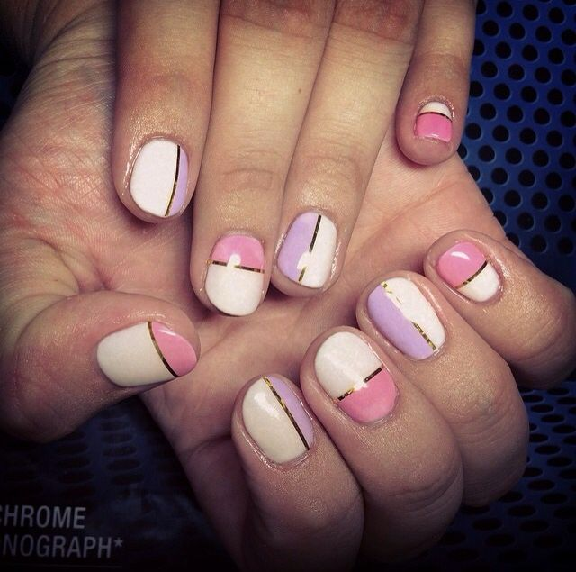 3 Color Nails Design Nails Pinterest Color Nails