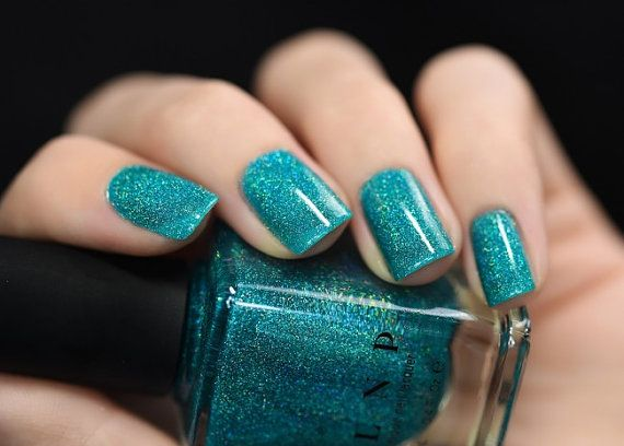Harbour Island Caribbean Blue Holographic Nail Polish By Ilovenp