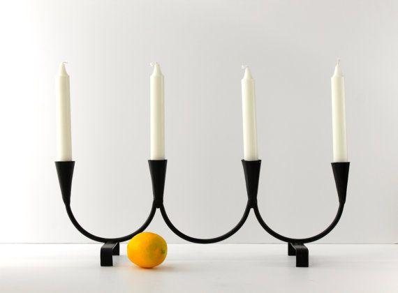 On Reserve For Wanda Black Metal Candelabra Candle Holder Metal Candelabra Candle Holders Candles