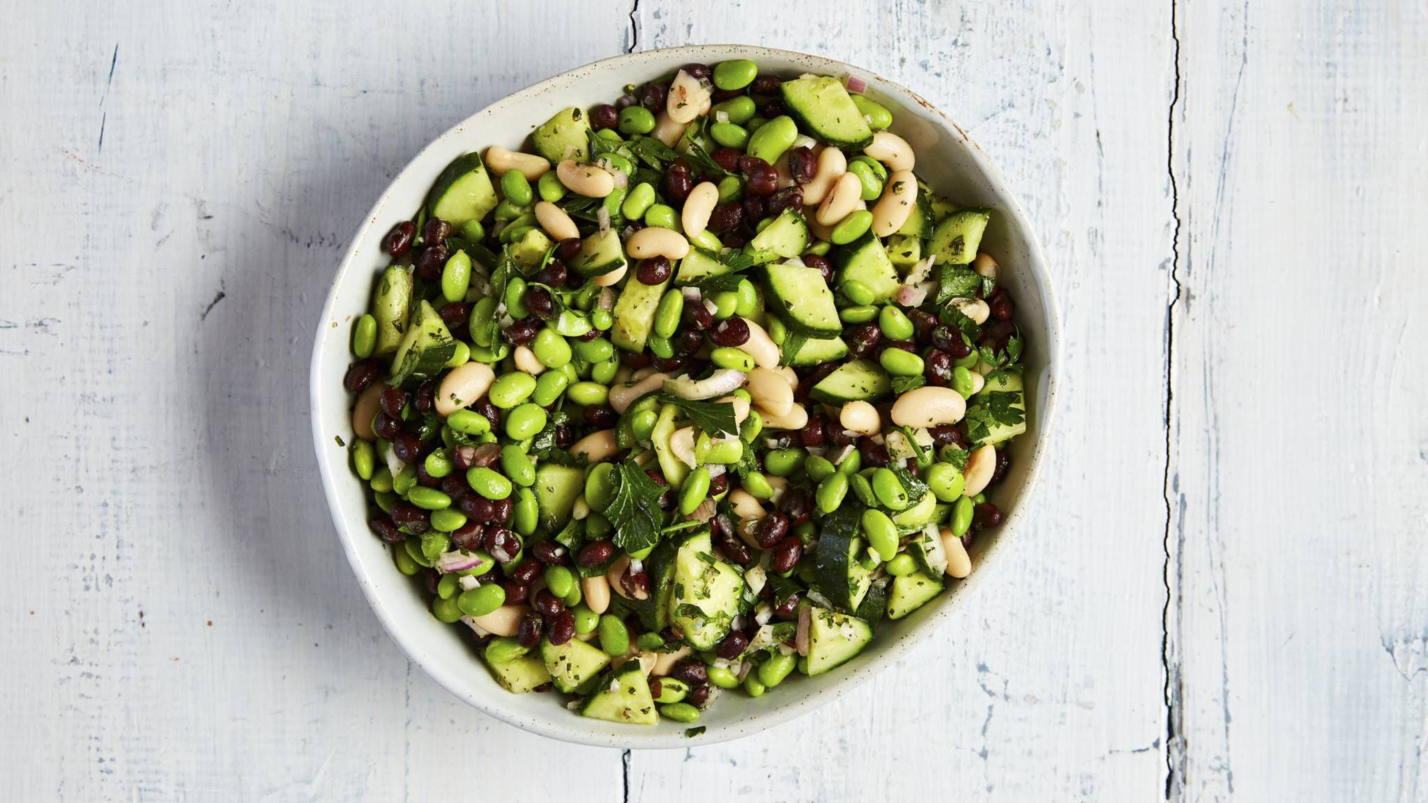Three Bean Salad With Ali Rosen In 2020 Three Bean Salad Bean Salad Three Beans