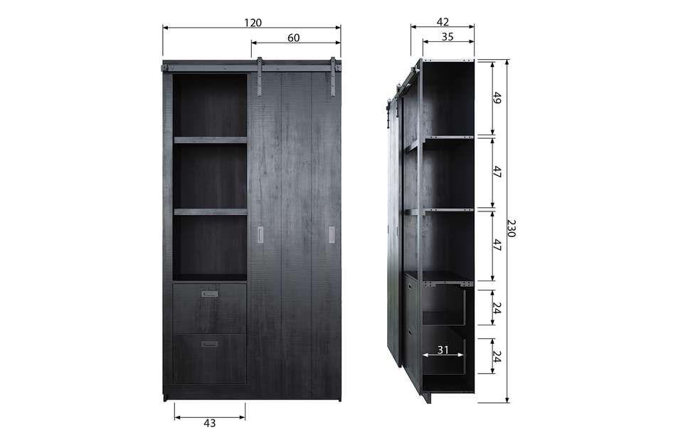 Goede vtwonen Slide Kast - Barn - Artikelen - Loods 5 | Wandkasten, Kast ND-75