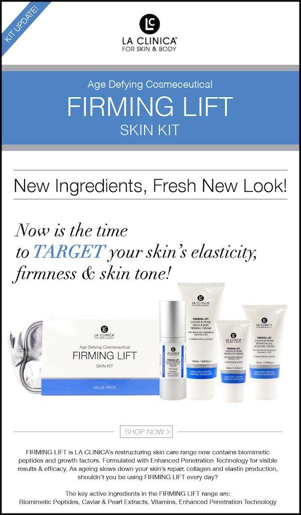 La Clinica Caviar Pearl Peptide Range Skin Elasticity Peptides Age Defying
