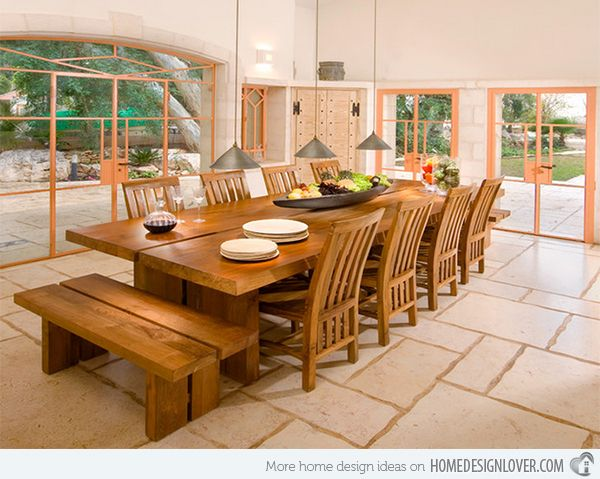 15 Dining Rooms With Benches Home Design Lover Large Dining Room Table Big Dining Table Large Dining Table