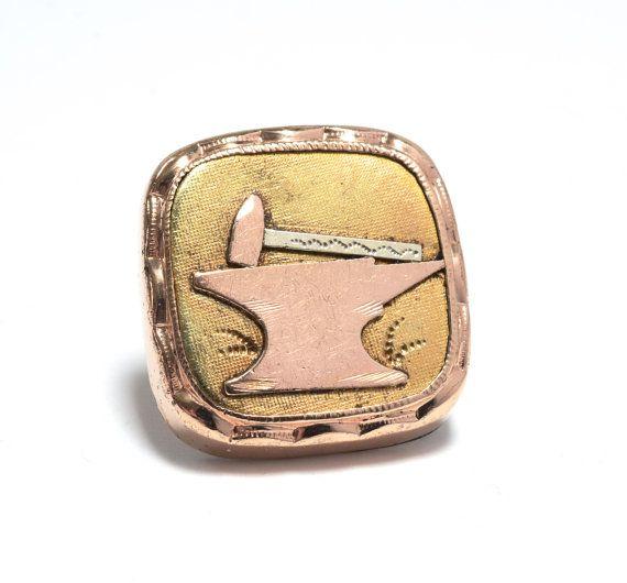 Victorian Rose Gold Metalsmith's Collar Button