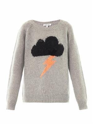 Elizabeth And James Raincloud intarsia-knit sweater