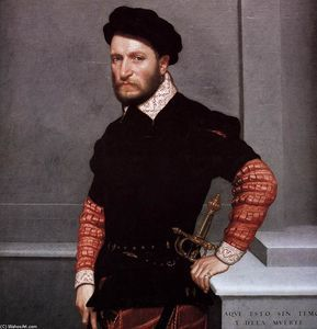 Giovanni Battista Moroni Paintings:  Ritratto di Don Gabriel de la Cueva, poi duca di Alburquerque ...