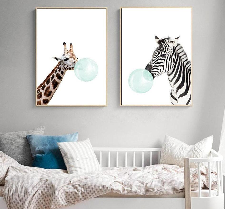 animal canvas prints for nursery on Bubblegum Baby Animal Prints Wall Art Koala Nursery Nursery Canvas Art Nursery Wall Art