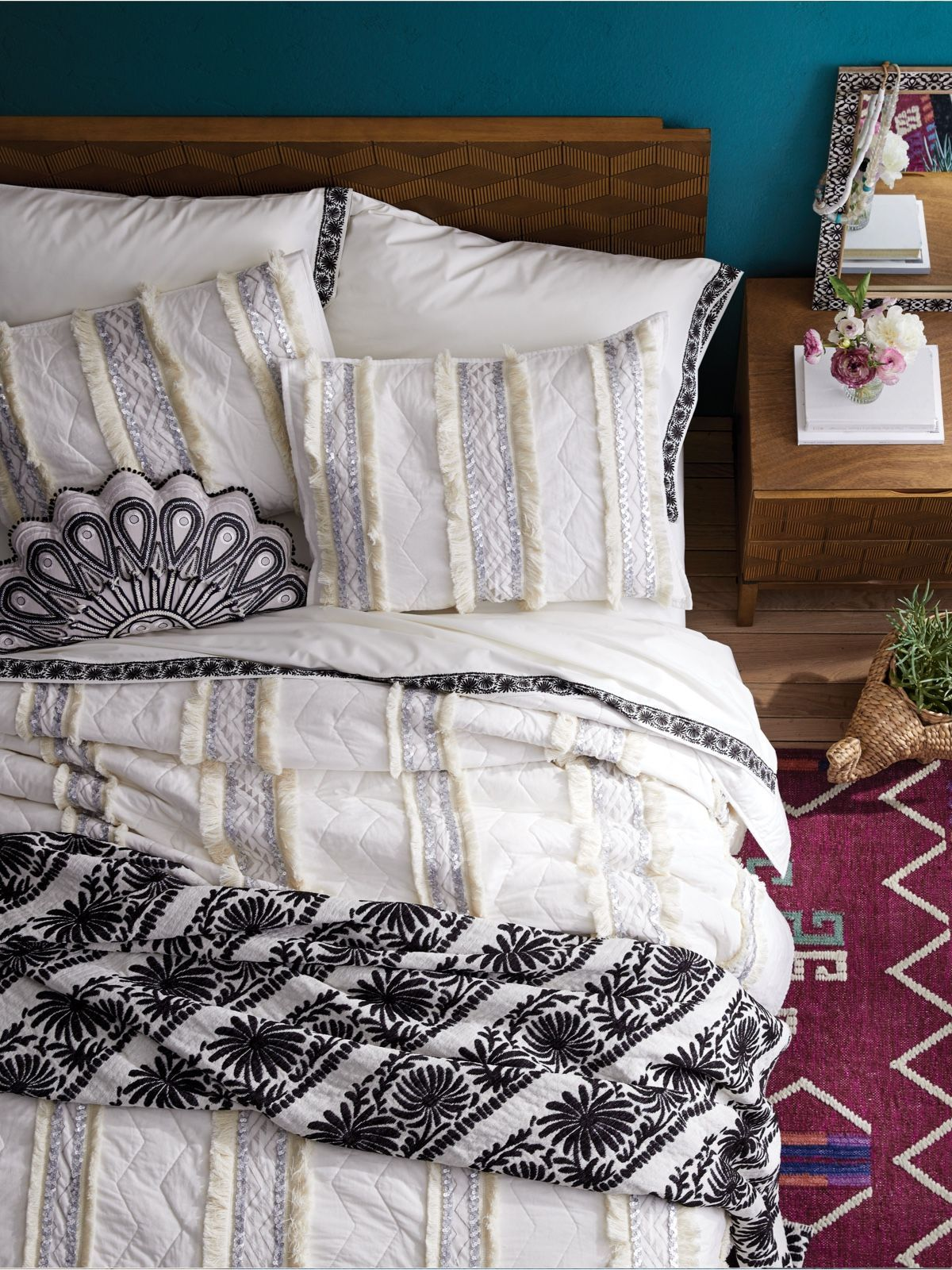 New Opalhouse Brand By Target Affordable Home Decor This Bedroom Is Perfect Ad Embellished Bedding Target Home Decor Eclectic Bedding