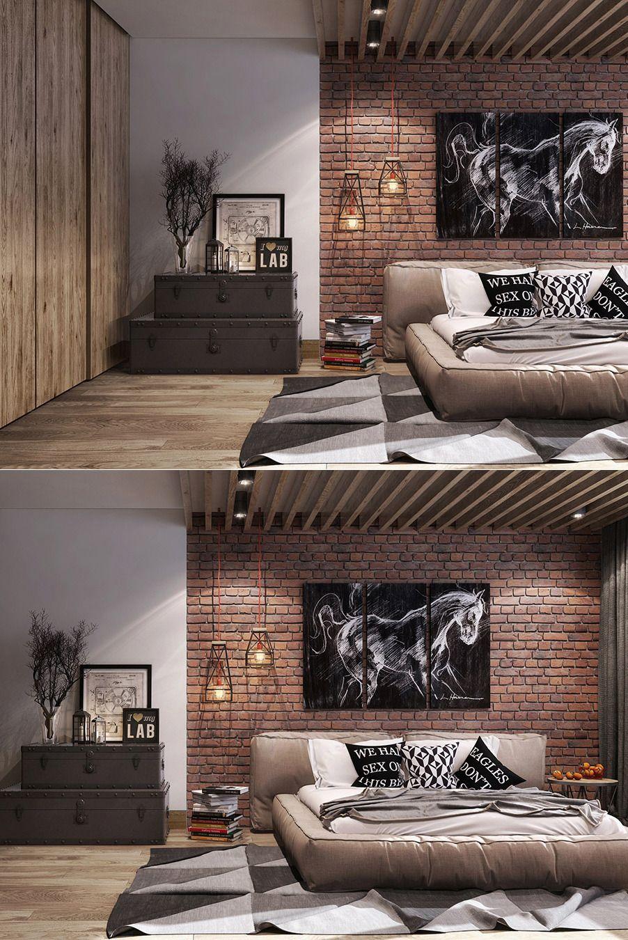 Best Bedrooms With Exposed Brick Walls Brick Wall Bedroom 400 x 300