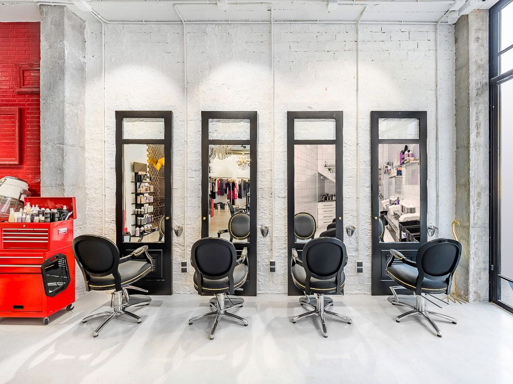 Modern Bright Beauty Salon Make Up Store Barber Shop And Manicure Interior Business Barber Shop Decor Barber Shop Barber Shop Interior