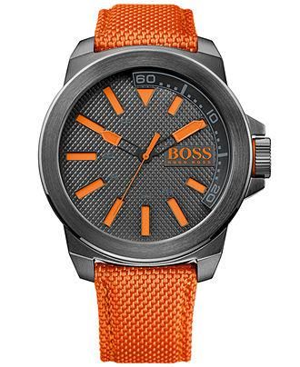 23662a2894ba Hugo Boss nylon strap watch — a little something to make him feel like an  MVP