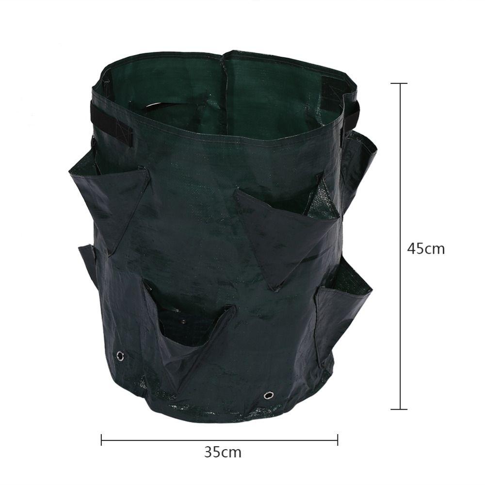 50L Large Capacity Potato Grow Planter PE Container Bag Pouch Tomato Vegatables Garden Outdoor #obstgemüse