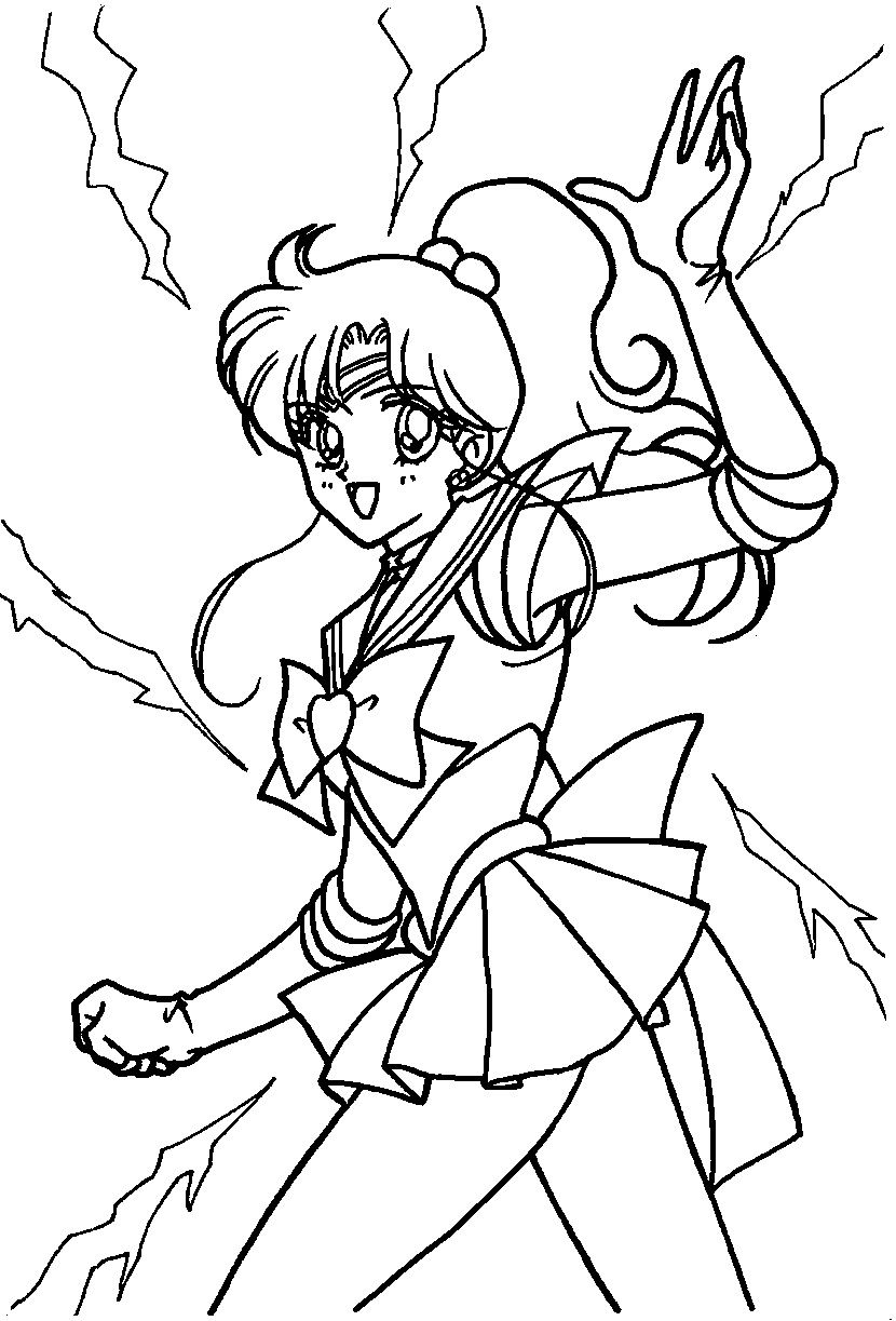 Sailor Jupiter Coloring Page Sailormoon