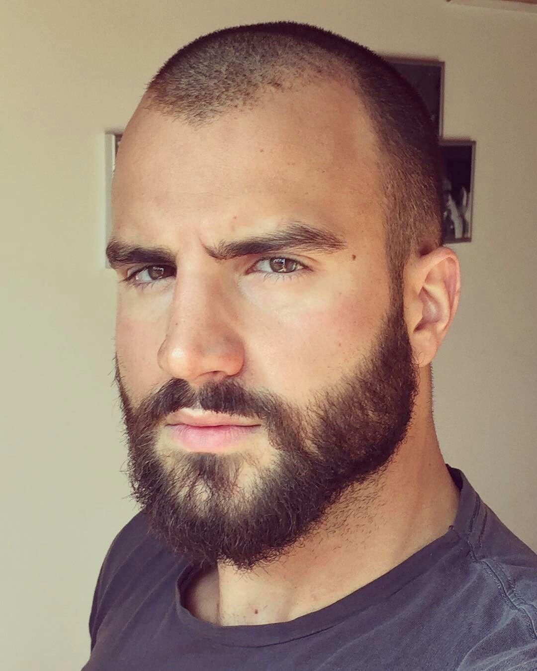 Beautiful Homens Carecas Com Barba Em 2019 Barba Cabelo
