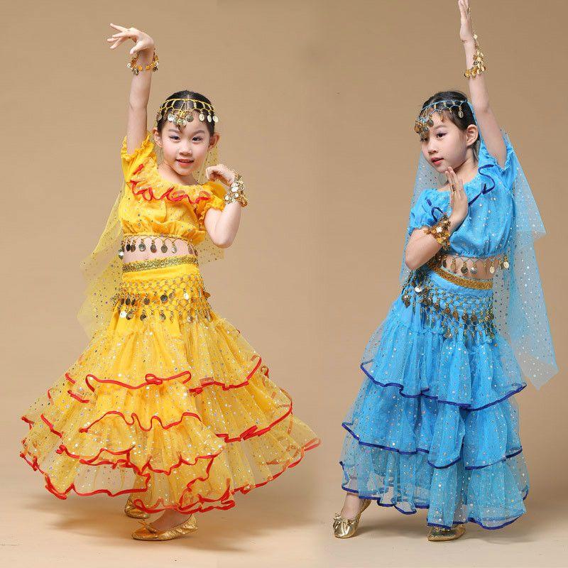 New Child Belly Dance Dress For Kids Girls Belly Dance Costume Set
