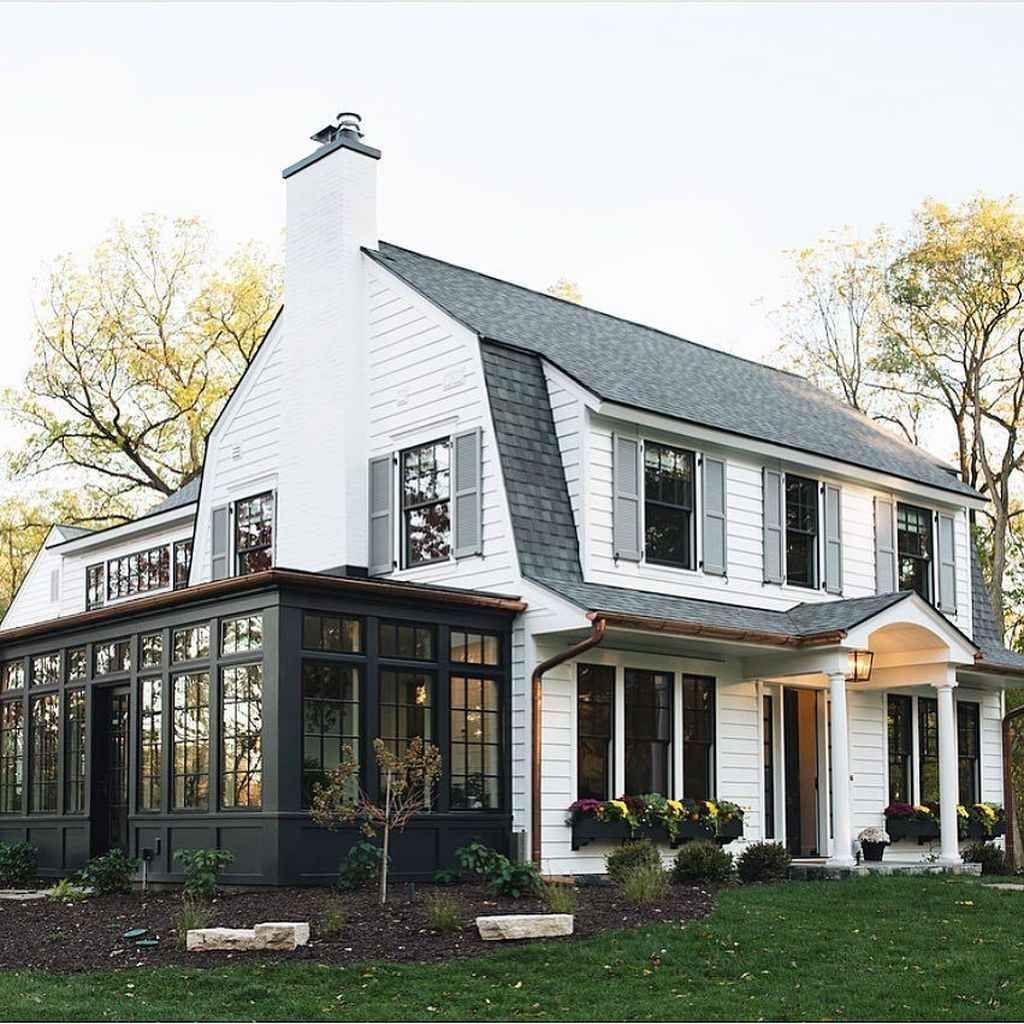 95 Cozy Sunroom Decor Ideas Cozy Decor Ideas Sunroom Dutch Colonial Homes Colonial Exterior Dutch Colonial Exterior
