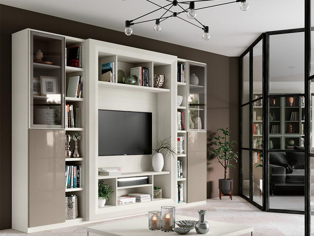 Soggiorno Bicolore ~ Soggiorno moderno a parete completamente personalizzabile e