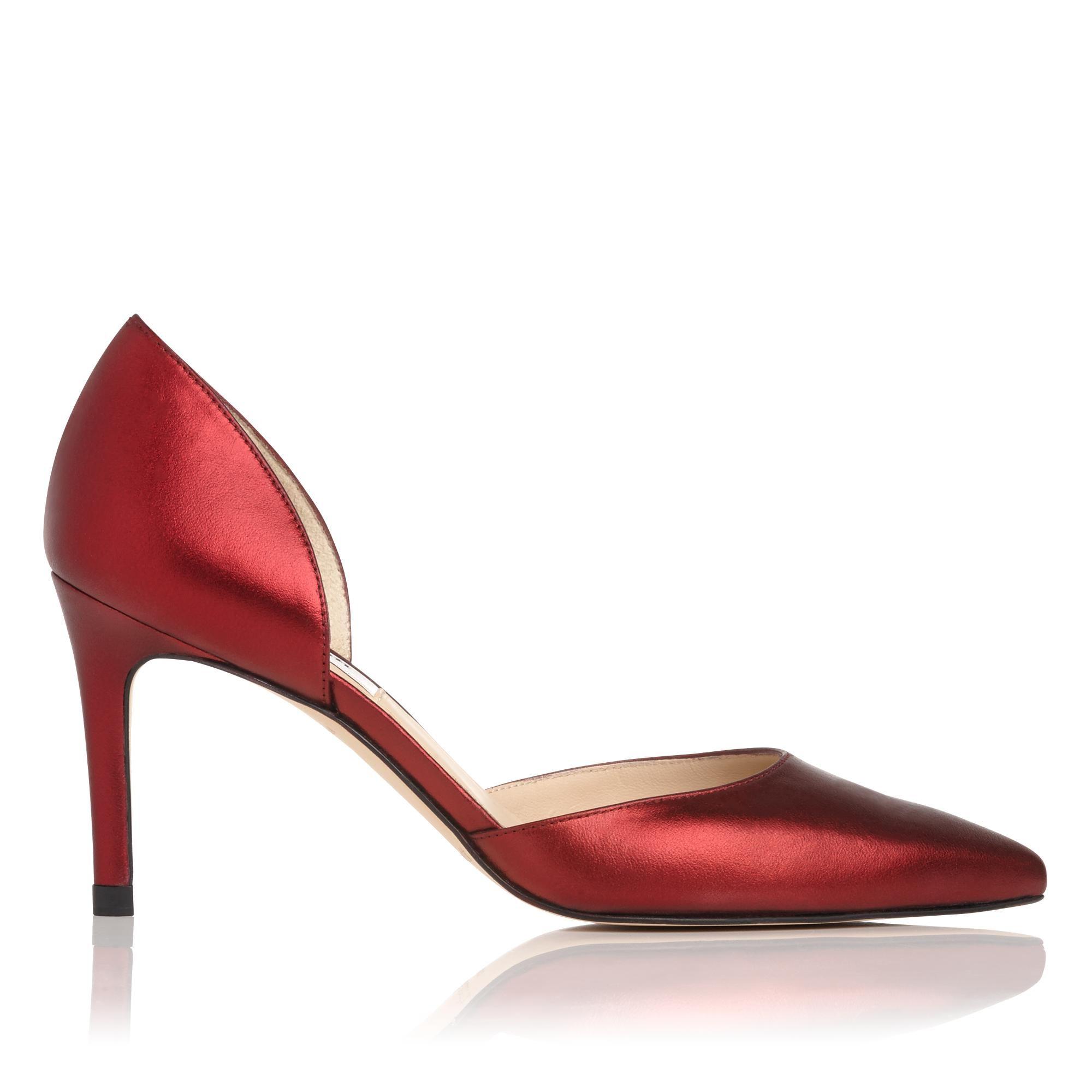Flossie Bordeaux Leather Open Courts   Shoes   L.K.Bennett