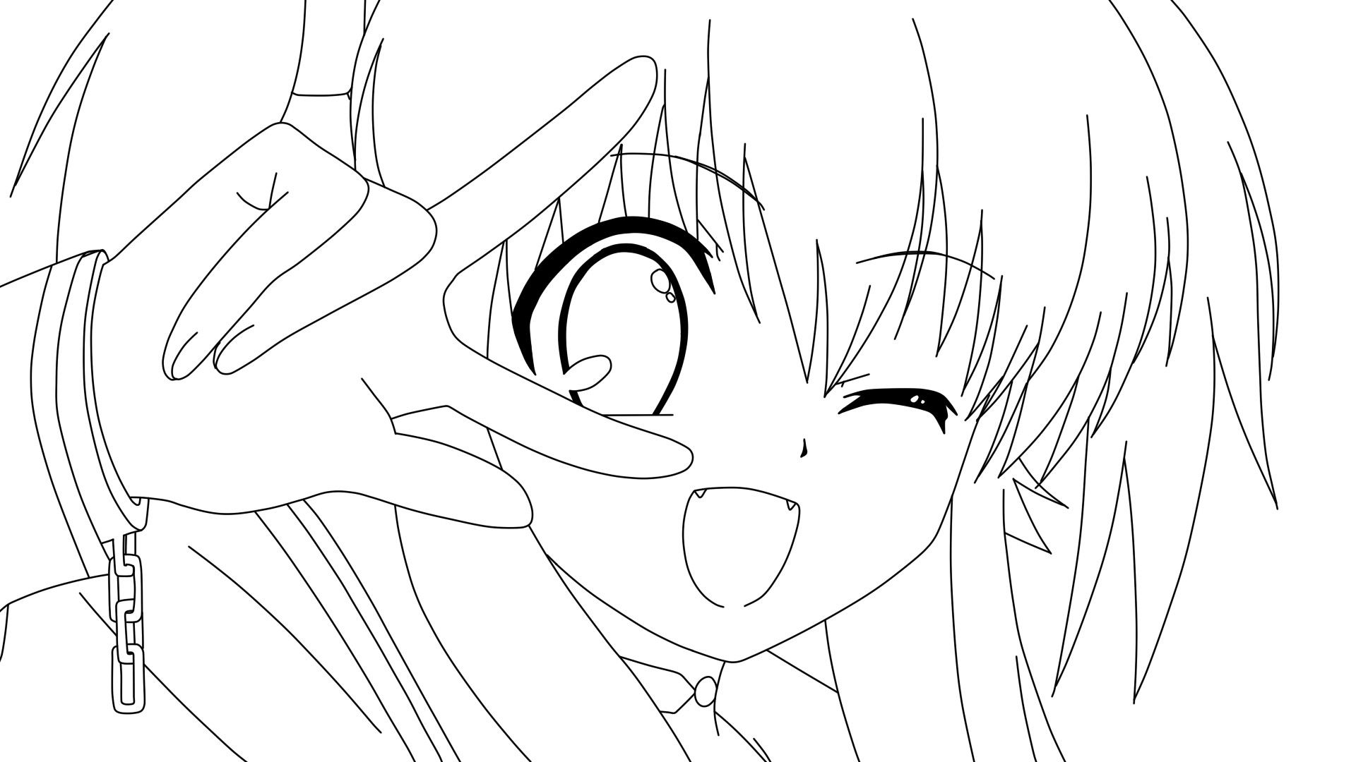 Anime Girl Coloring Sheets Coloring for Kids Pinterest