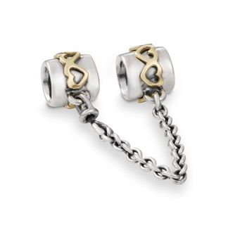 Pandora MOA - Heart Safety Chain with 14K, $115.00 (http://www.pandoramoa.com/heart-safety-chain-with-14k/)