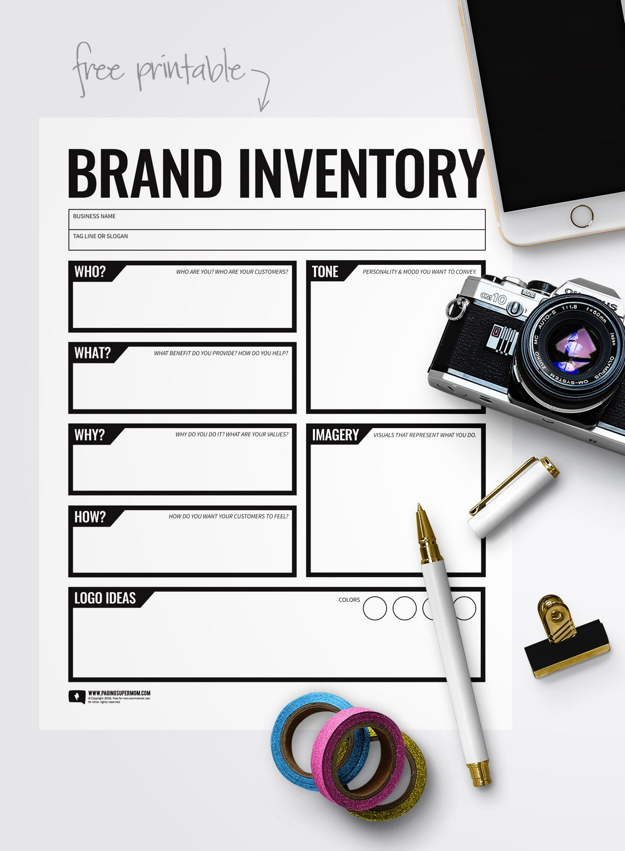 Free Printable Branding Worksheet A Brand Is More Than