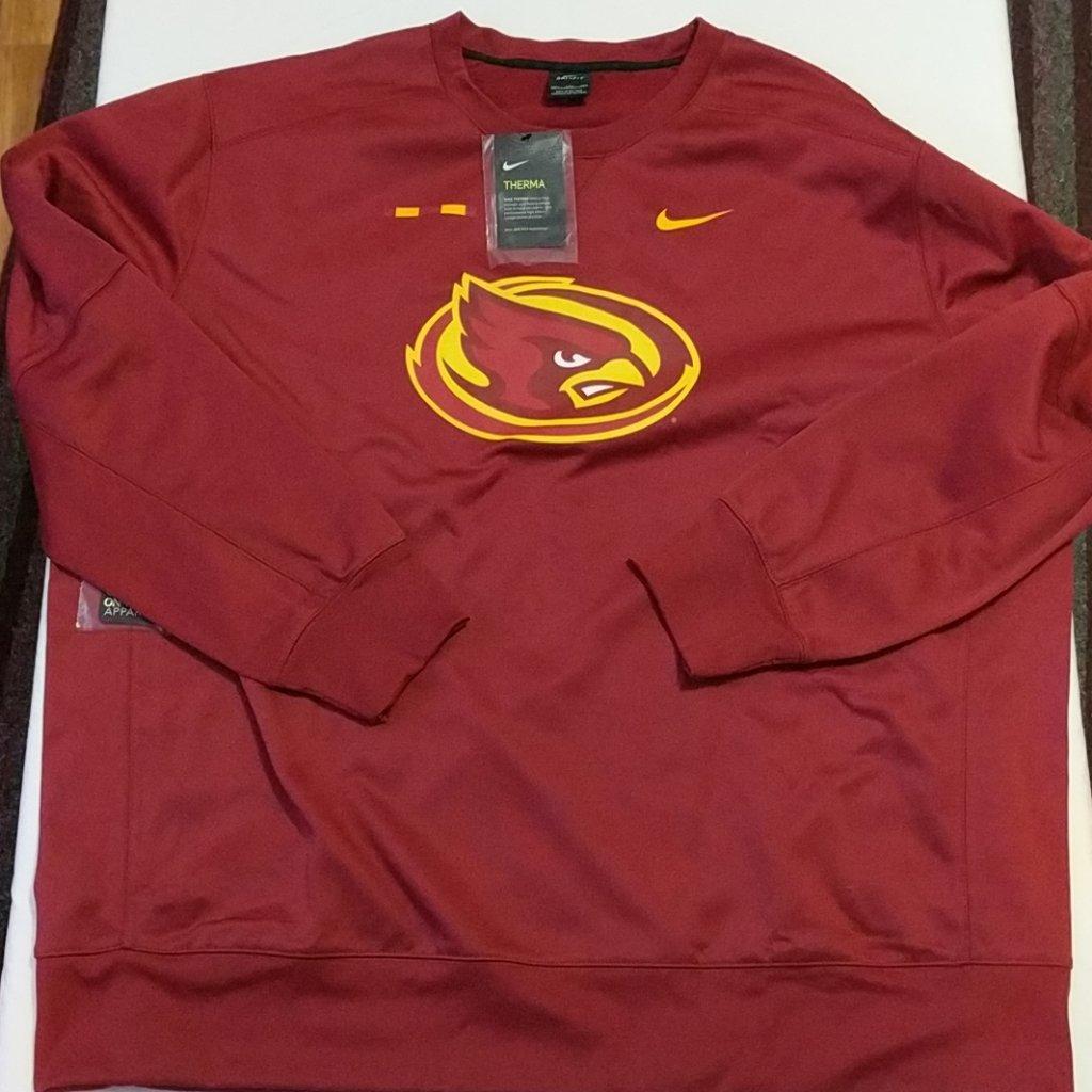 aac7323b53ff Nike Iowa State Cyclones On Field Sweater Mens Sz 4XL New