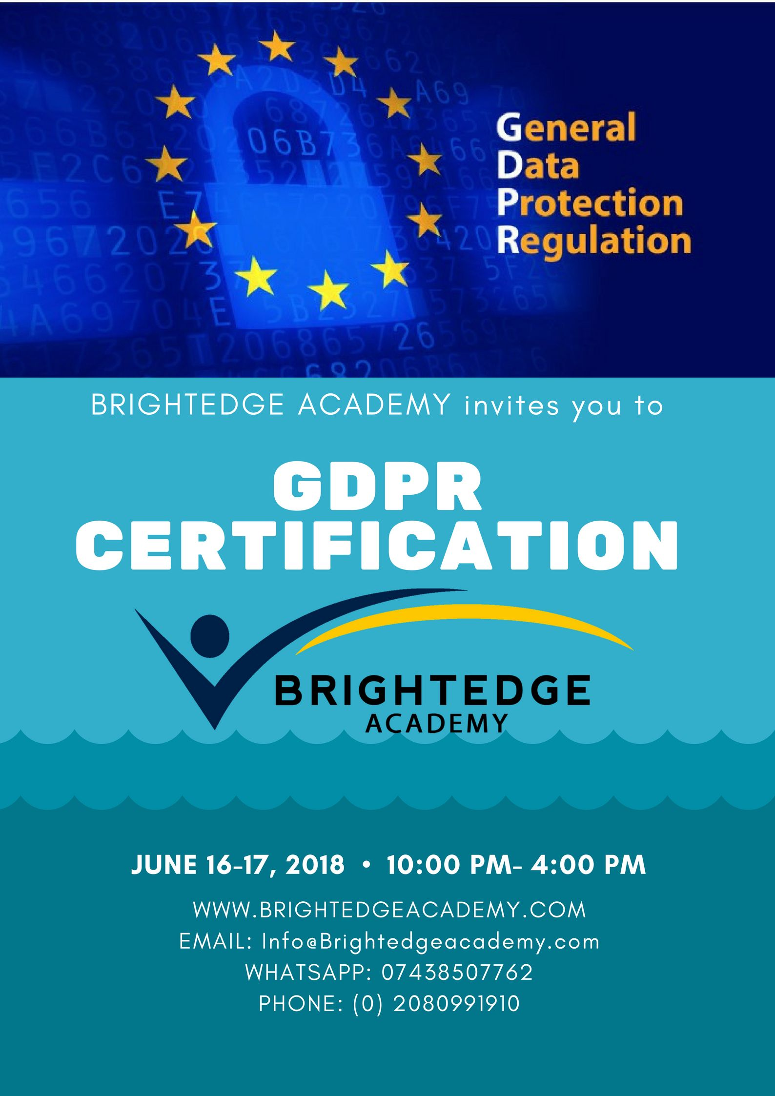 Gdpr Training Certification Courses Brightedge Academy