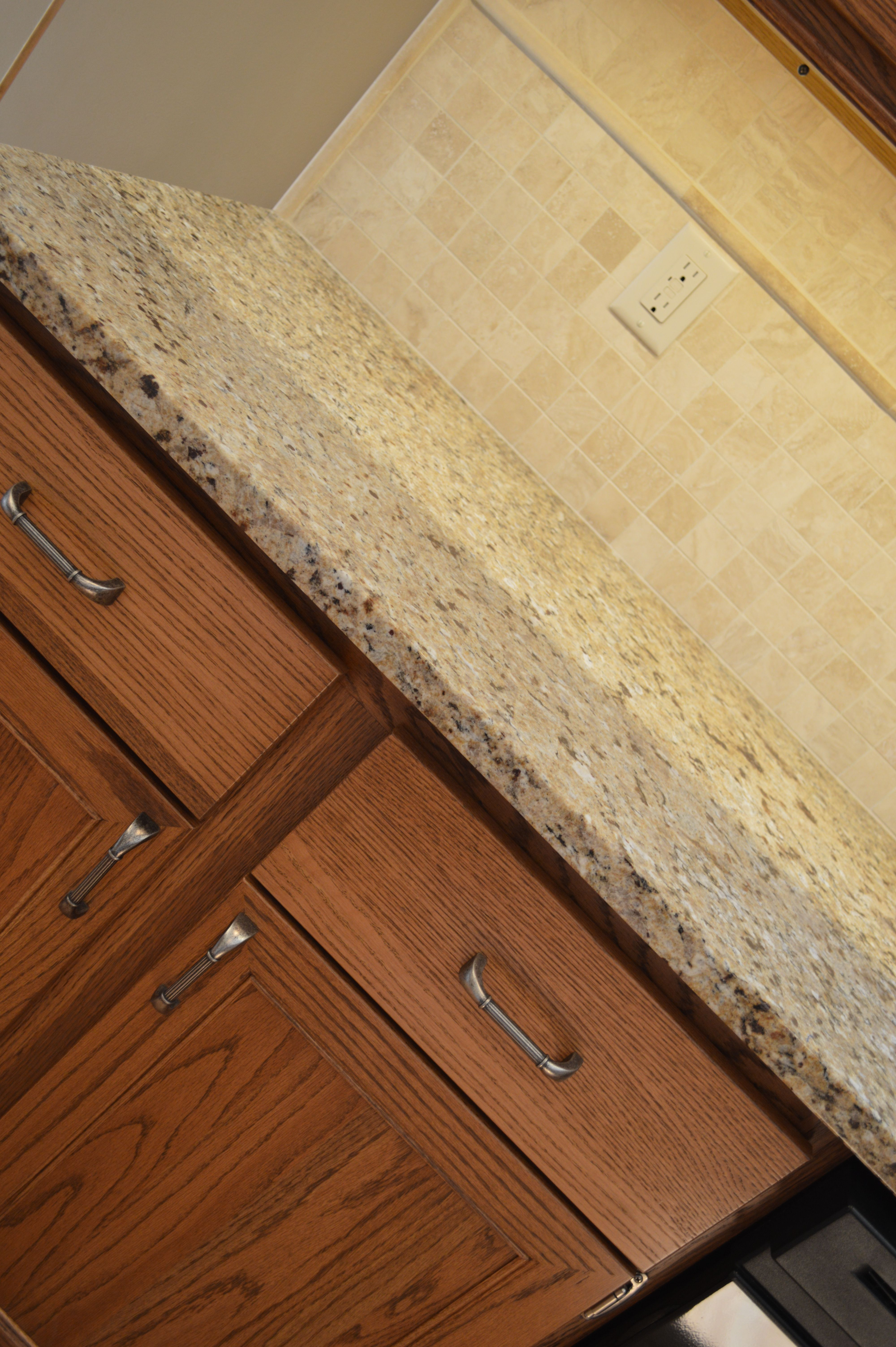 - Part Of A Cosmetic Kitchen Remodel, This Travertine Backsplash Has