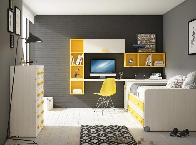 Schreibtisch Len Design dormitorio juvenil len dormitorio juvenil