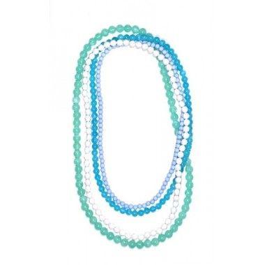 Ibero Malibu collection pearls: shades of green and blue. Cute and fresh! Ibero Malibu malliston helmet: vihreän ja sinisen sävyjä. Suloista ja raikasta! Kaulakoru, pitkä - Ibero Boutique