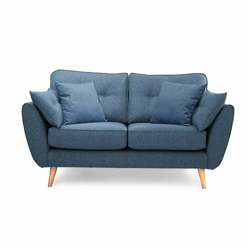 Groovy Zinc Blue Fabric Sofa Set 3 2 Seater Design Soft Fabric Deep Dailytribune Chair Design For Home Dailytribuneorg