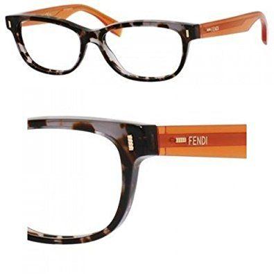 FENDI Eyeglasses 0034 0Rxd Havana Gray 54MM Review | Eyewear Frames ...