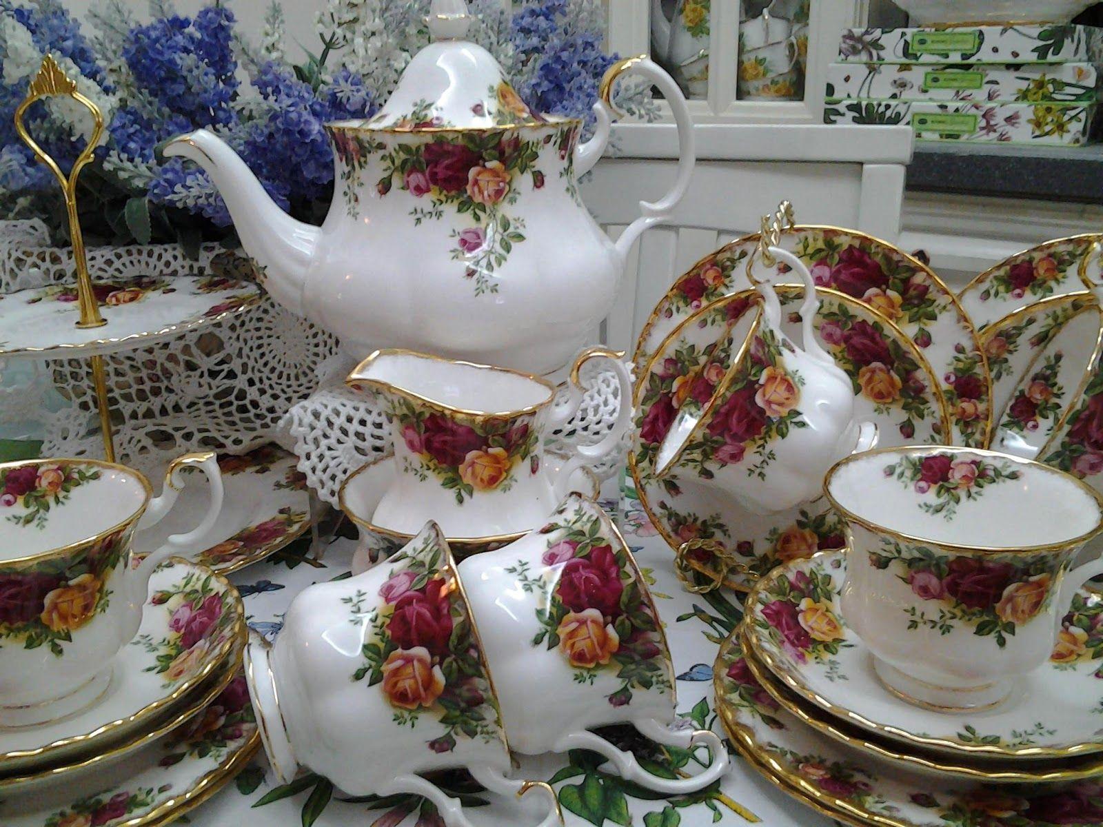 English garden tea sets Royal Albert Old Country Roses