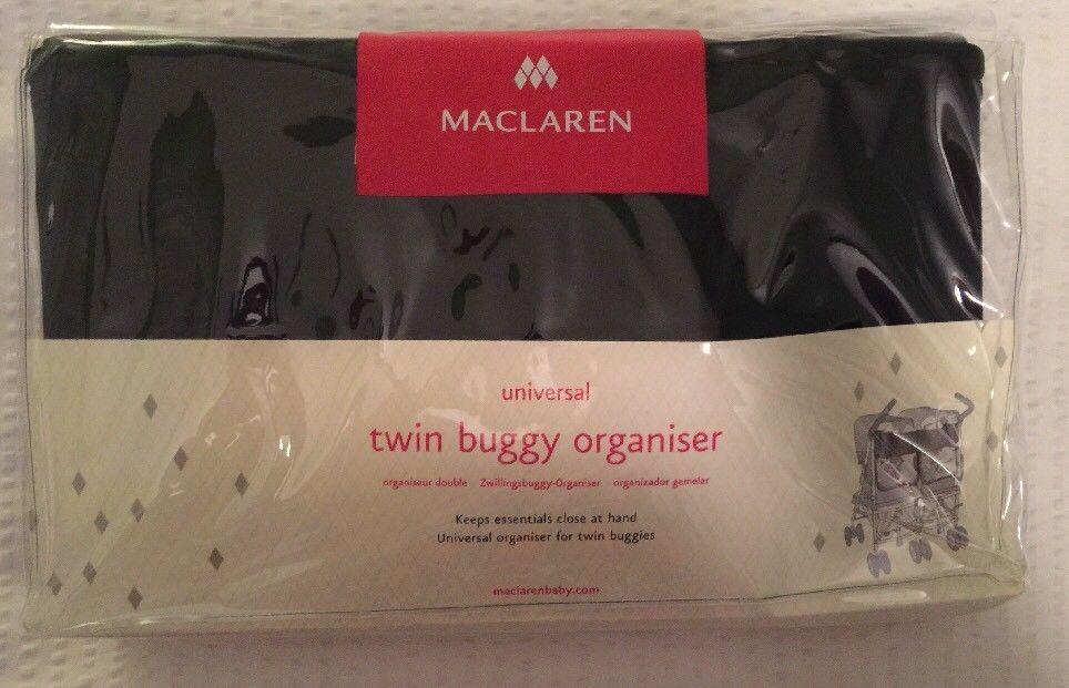 Maclaren Twin Buggy (Stroller) Organizer Black New In Package ...