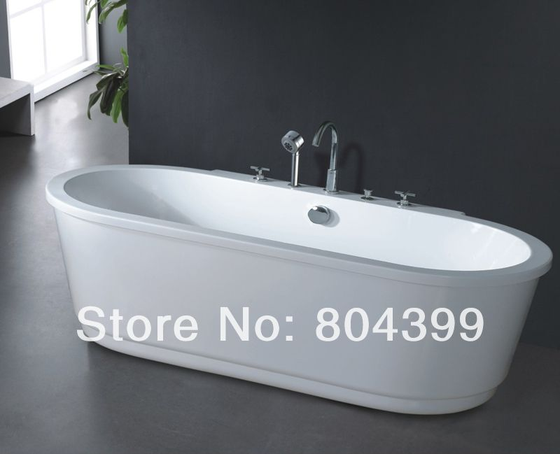 freestanding bathtub Oval massage deep soaking bath tub B507 tub ...