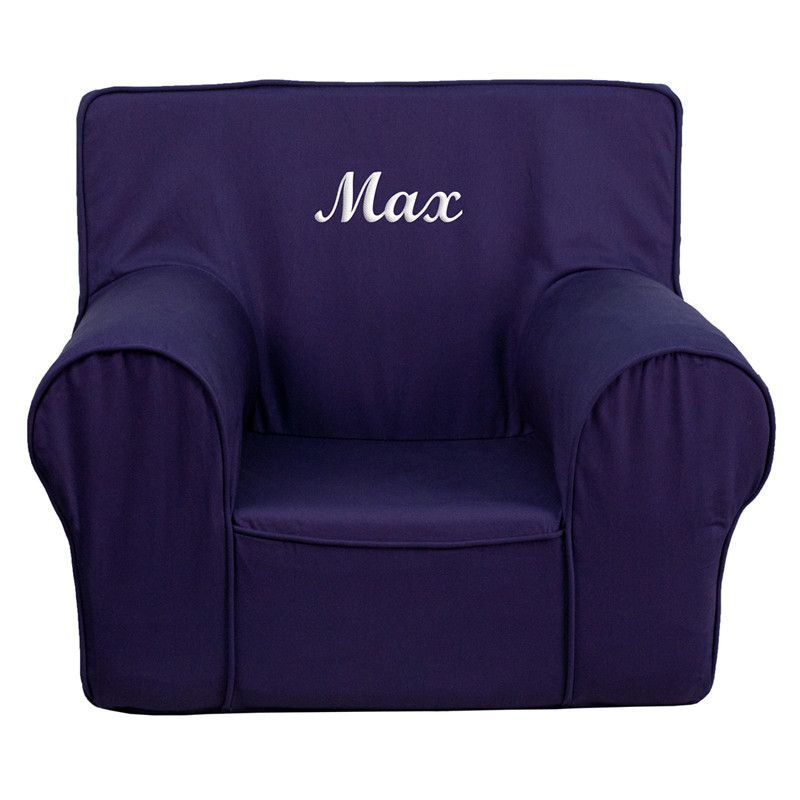 Personalized Blue Kids Chair