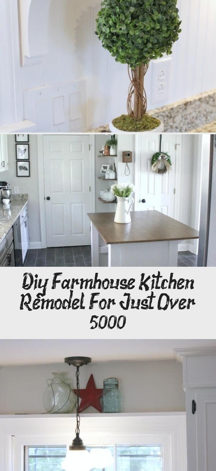 diy farmhouse kitchen remodel for just over 5000 decorations in 2020 farmhouse kitchen on kitchen remodel under 5000 id=95660