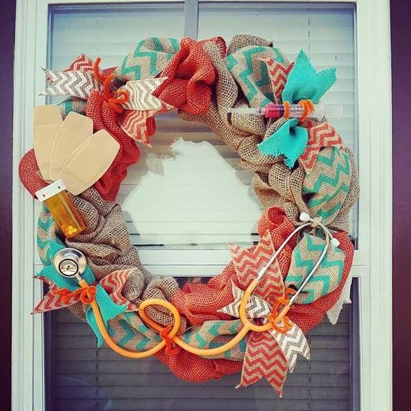 Wreath Wreath Ideas Nurse Wreath Wreaths Nurse
