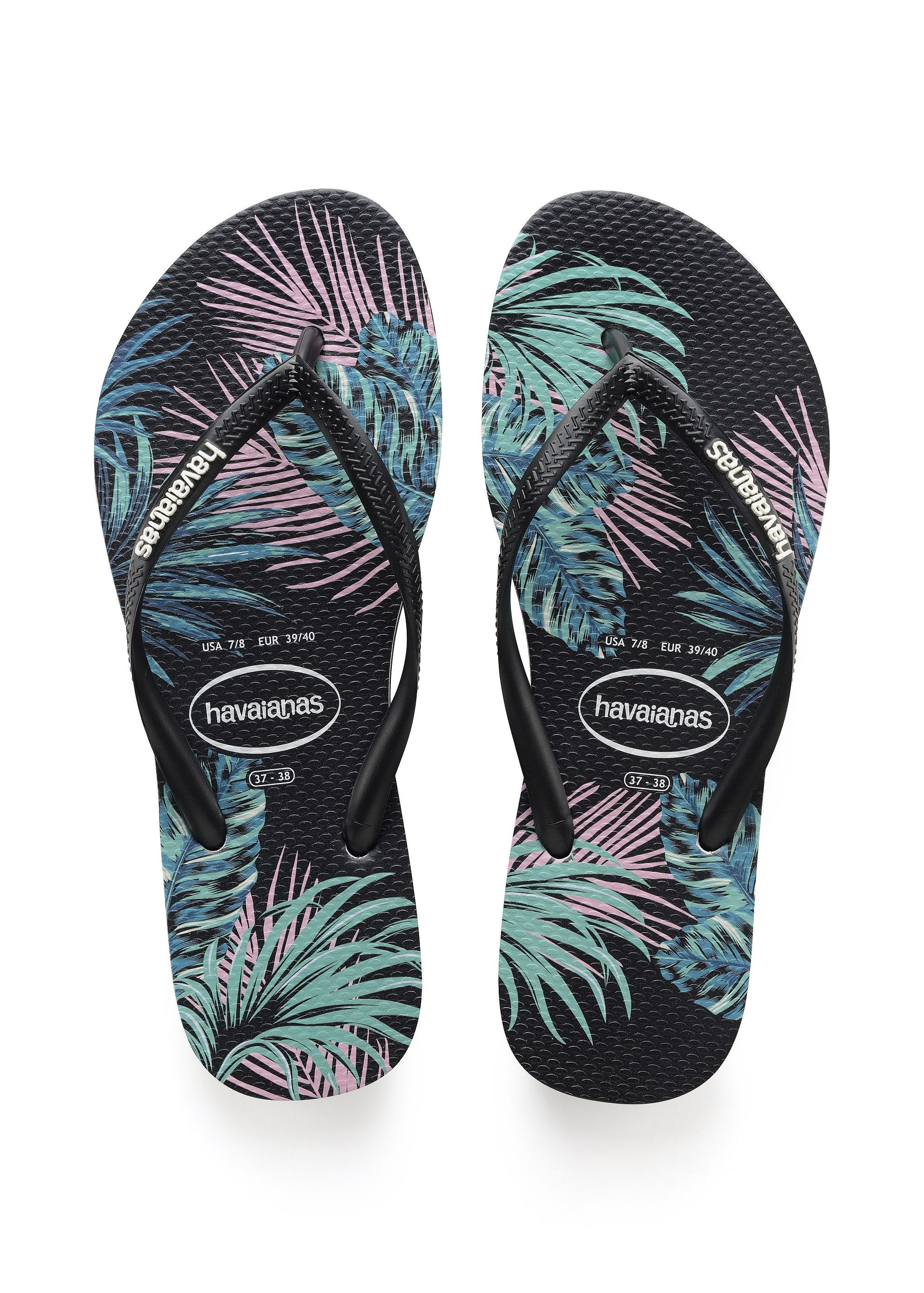 50682c65ca79 Havaianas Slim Tropical Floral Sandal Black Pink Price From  28