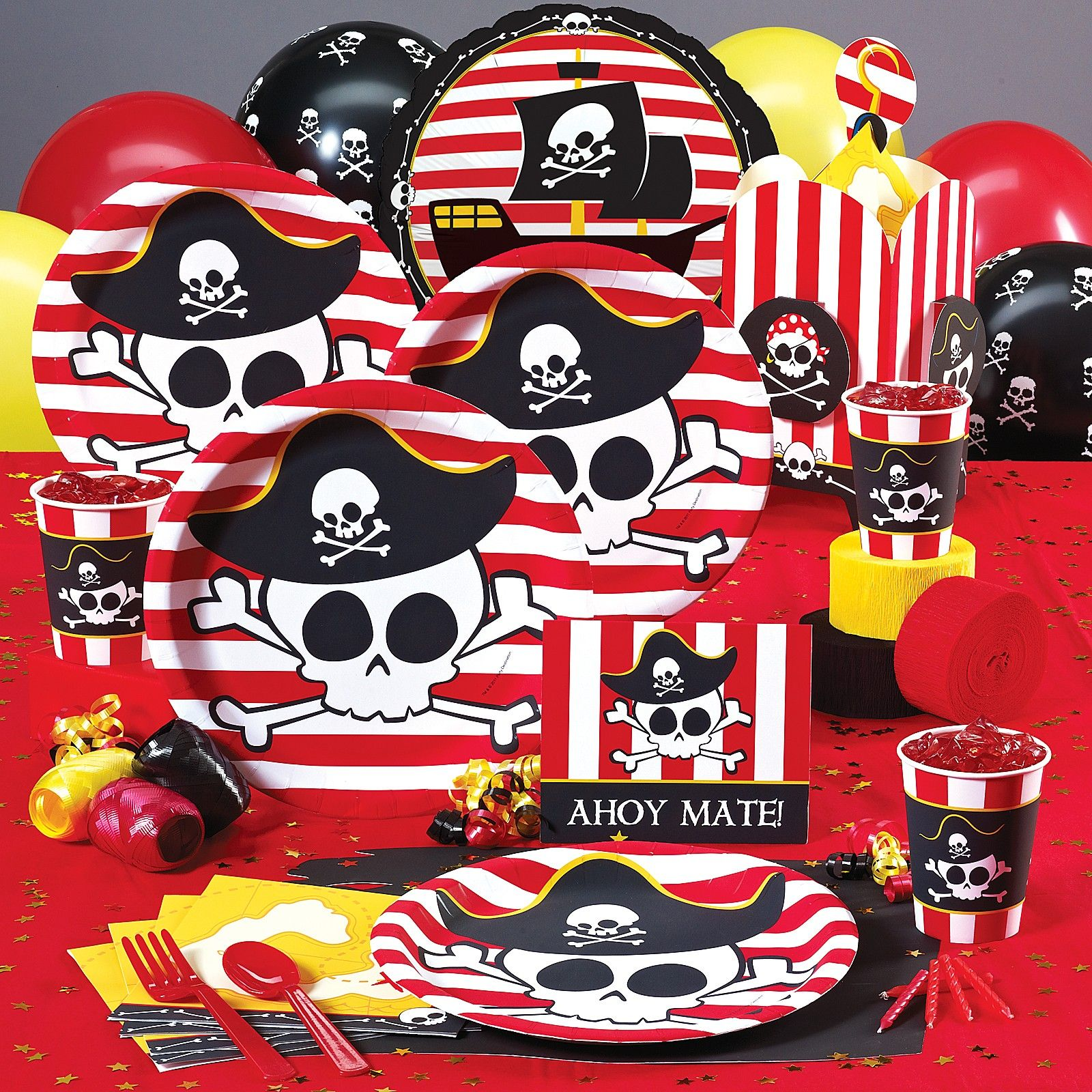 Pirate Theme Party Decoration Ideas Part - 31: Little Buccaneer Pirate Decorations