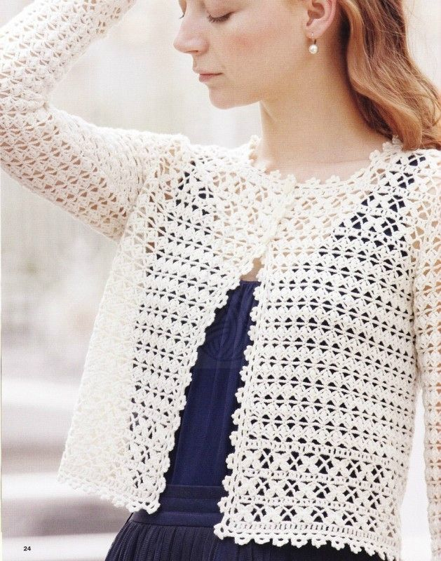 Crochet : Gilet femme   Ladies crochet gilet   Pinterest   Jacken ...