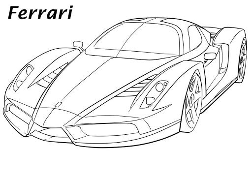 Car Line Art Google Search Cars Coloring Pages Coloring Pages
