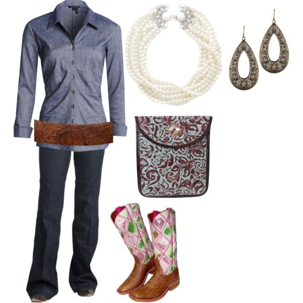 A fashion look from October 2015 featuring NIC+ZOE blouses and Ariat jeans. Browse and shop related looks.
