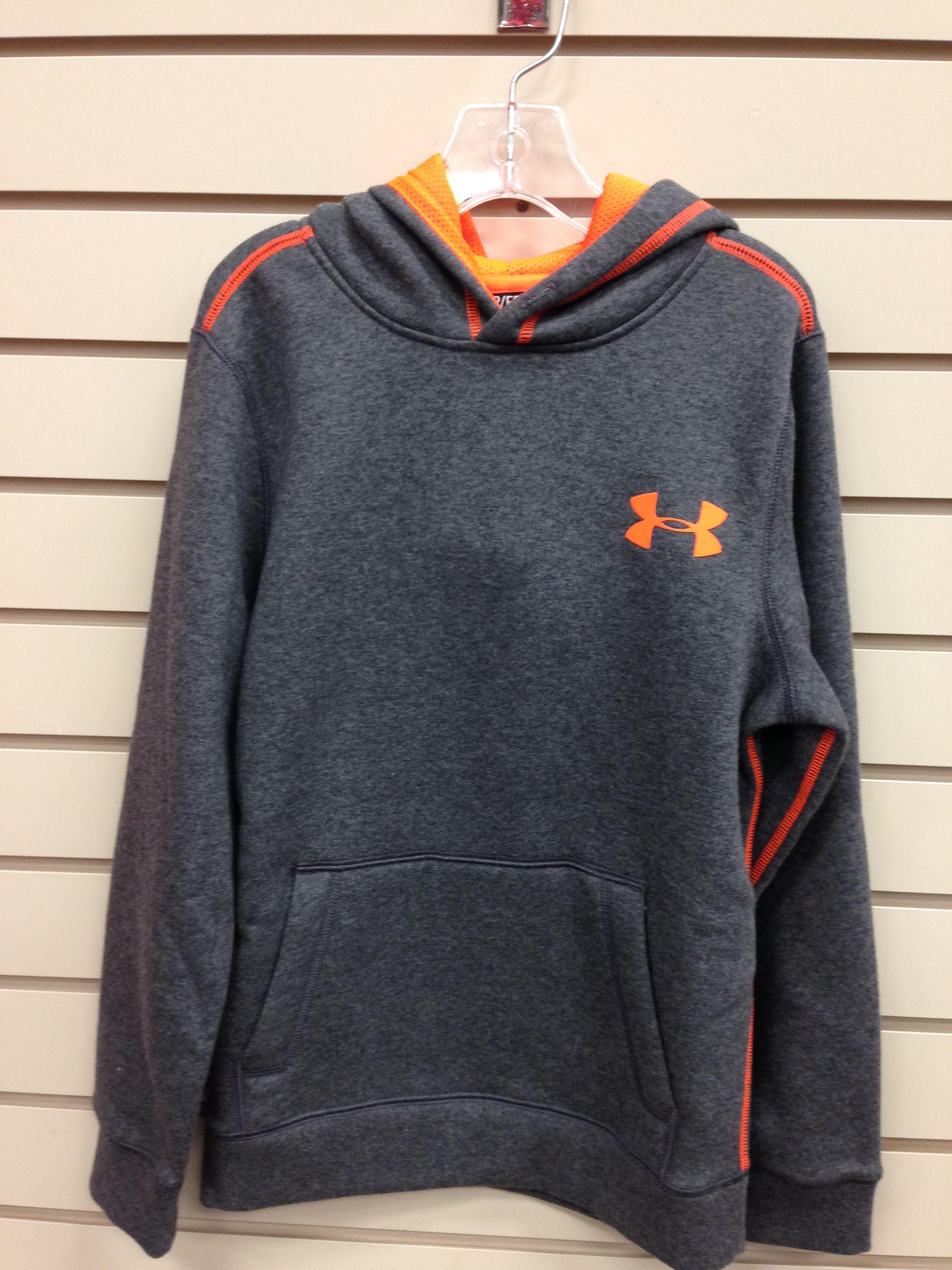 Youth Under Armour Sweatshirt, Gray and Orange Kids